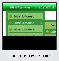 Html Tabbed Menu Example