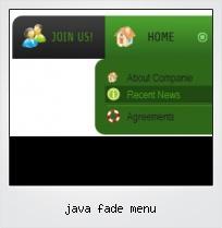 Java Fade Menu