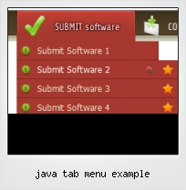 Java Tab Menu Example