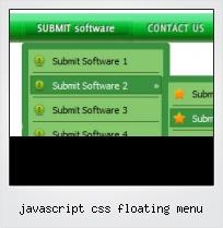 Javascript Css Floating Menu