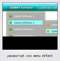 Javascript Css Menu Effect