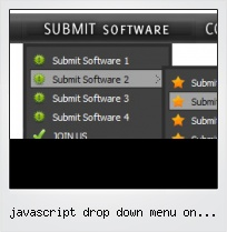 Javascript Drop Down Menu On Mouse Over