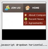 Javascript Dropdown Horizontal Menu