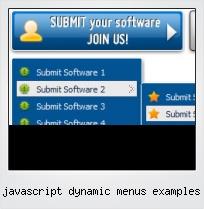 Javascript Dynamic Menus Examples