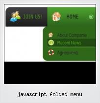 Javascript Folded Menu