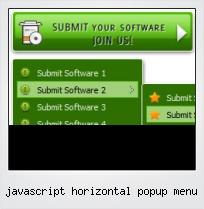 Javascript Horizontal Popup Menu
