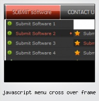 Javascript Menu Cross Over Frame