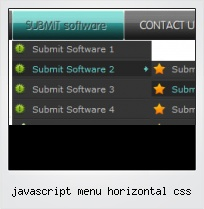 Javascript Menu Horizontal Css