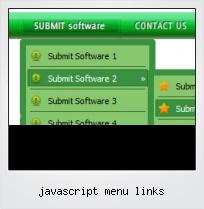 Javascript Menu Links