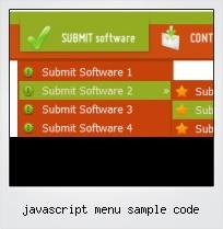 Javascript Menu Sample Code