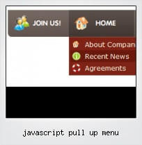 Javascript Pull Up Menu