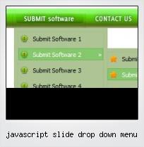 Javascript Slide Drop Down Menu