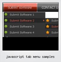 Javascript Tab Menu Samples