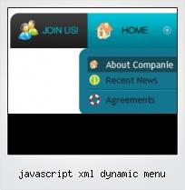 Javascript Xml Dynamic Menu