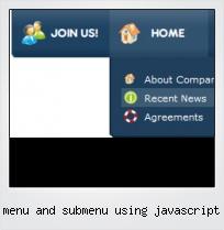 Menu And Submenu Using Javascript