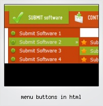 Menu Buttons In Html