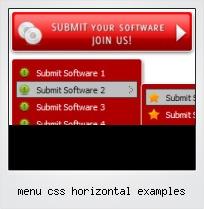 Menu Css Horizontal Examples