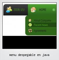 Menu Despegable En Java