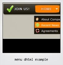 Menu Dhtml Example