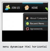 Menu Dynamique Html Horizontal