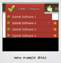 Menu Example Dhtml