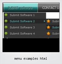 Menu Examples Html