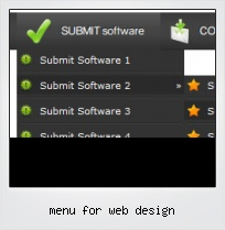 Menu For Web Design