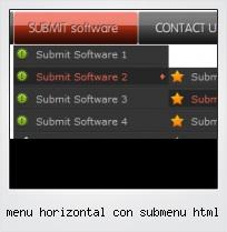 Menu Horizontal Con Submenu Html