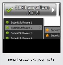 Menu Horizontal Pour Site