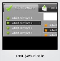 Menu Java Simple