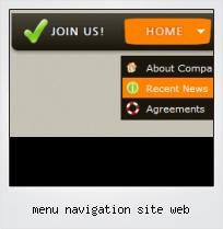 Menu Navigation Site Web