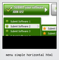 Menu Simple Horizontal Html