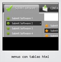 Menus Con Tablas Html