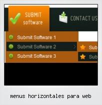 Menus Horizontales Para Web