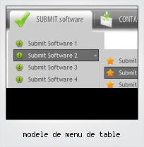 Modele De Menu De Table