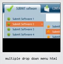 Multiple Drop Down Menu Html
