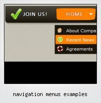 Navigation Menus Examples