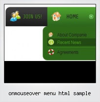 Onmouseover Menu Html Sample