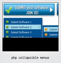 Php Collapsible Menus