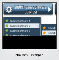 Php Menu Example