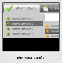 Php Menu Sample