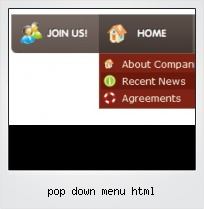 Pop Down Menu Html