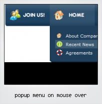 Popup Menu On Mouse Over