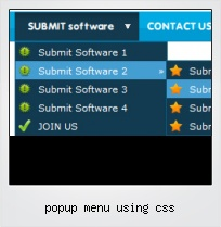 Popup Menu Using Css