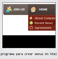 Programa Para Crear Menus En Html