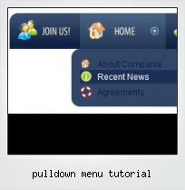 Pulldown Menu Tutorial