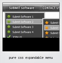 Pure Css Expandable Menu