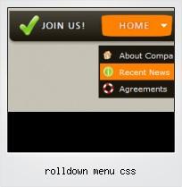 Rolldown Menu Css