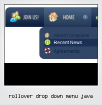Rollover Drop Down Menu Java