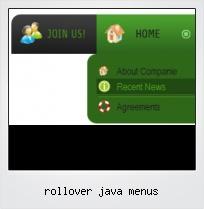 Rollover Java Menus